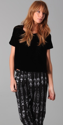 Lindsey Thornburg Darby Velvet Top