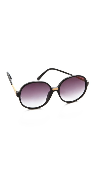 Linda Farrow Luxe Round Acetate Sunglasses