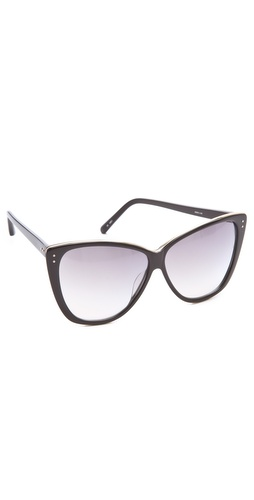 Linda Farrow Luxe Square Cat Eye Sunglasses at Shopbop.com