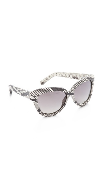 Linda Farrow Luxe Python Square Sunglasses
