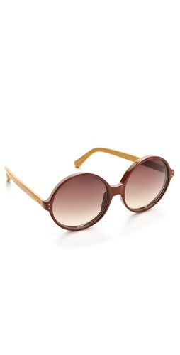 Linda Farrow Luxe Oversized Jackie O Sunglasses