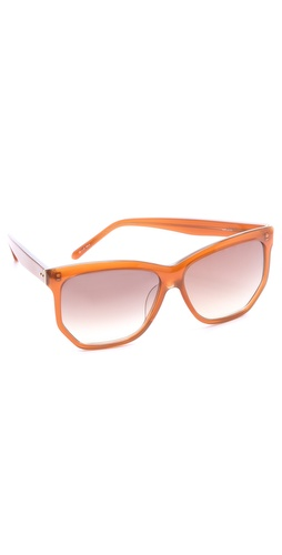 Linda Farrow Luxe Angled Oversized Sunglasses