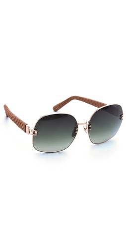 Linda Farrow Luxe Snakeskin Sunglasses