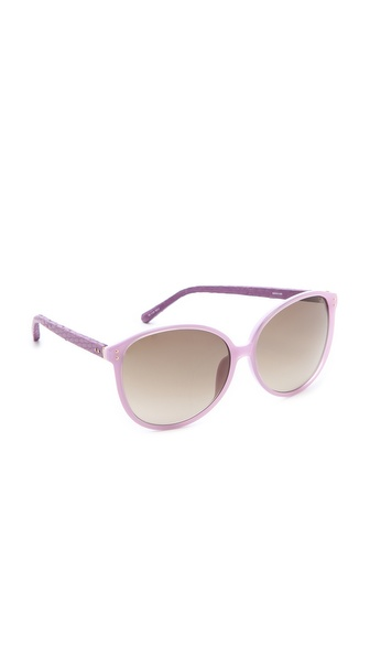 Linda Farrow Luxe Oversized Snakeskin Sunglasses