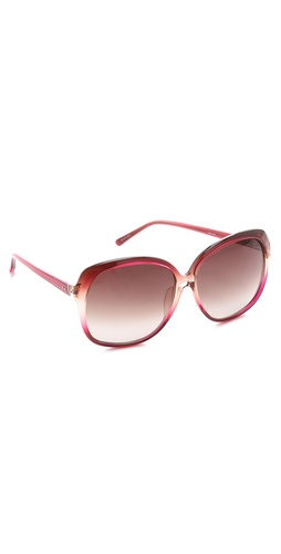 Shop Linda Farrow Luxe Hibiscus Oversized Sunglasses and Linda Farrow Luxe online - Accessories,Womens,Sunglasses,Other, online Store