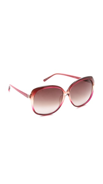 Linda Farrow Luxe Hibiscus Oversized Sunglasses