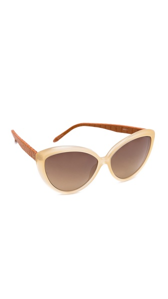 Linda Farrow Luxe Cat Eye Snake Sunglasses