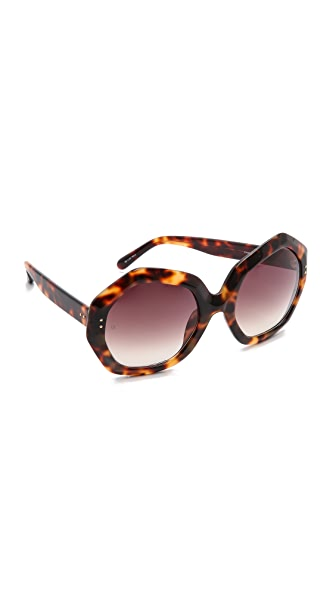 Linda Farrow Luxe Geometric Sunglasses