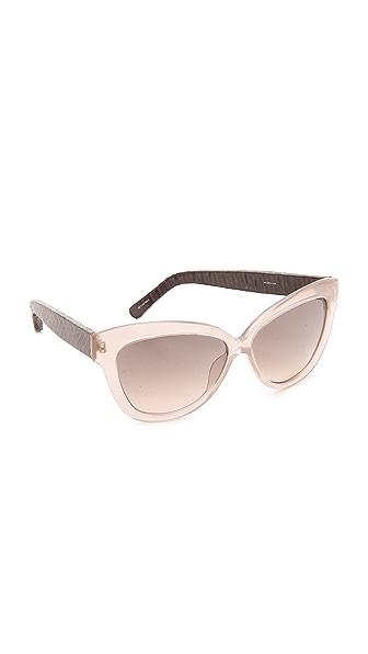 Linda Farrow Luxe Snakeskin Arm Sunglasses