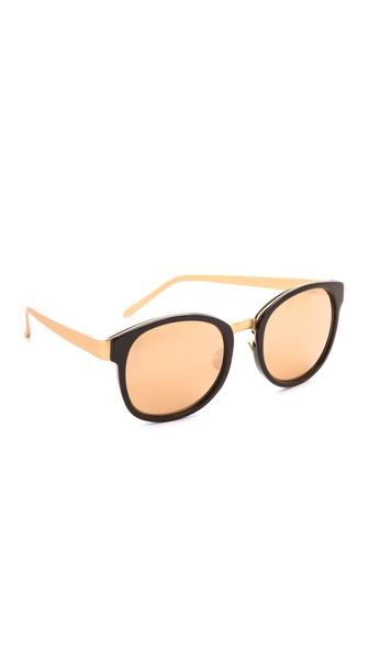 Linda Farrow Luxe Mirrored Sunglasses