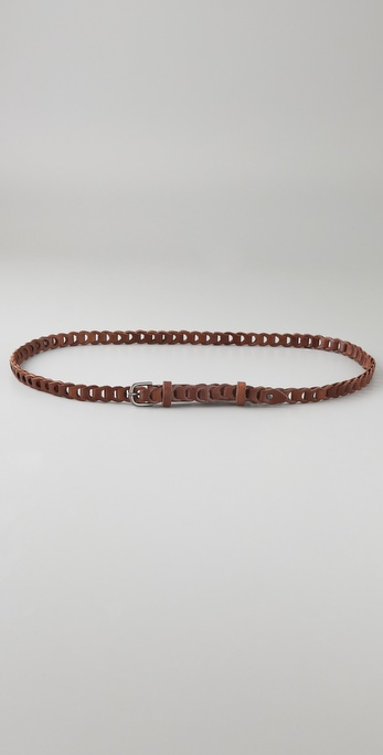 Linea Pelle Vintage Linked Skinny Belt