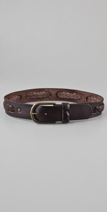Linea Pelle Vintage Center Braid Belt
