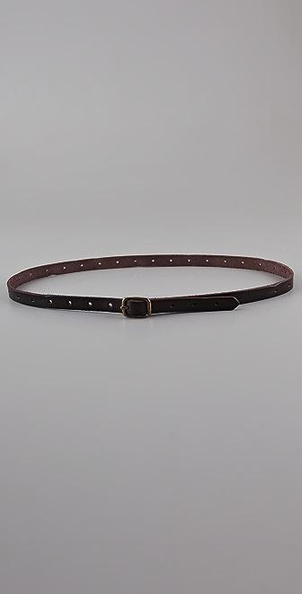 Linea Pelle Vintage Skinny Belt