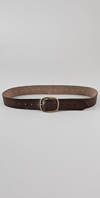 Linea Pelle Vintage Perforated Holes Belt