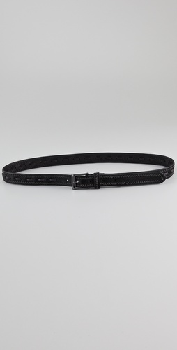 Linea Pelle Lacing Haircalf Belt