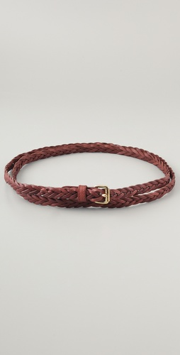 Linea Pelle Skinny Braided Wrap Hip Belt