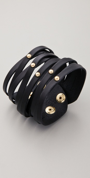 Linea Pelle Sliced Cuff with Dome Studs