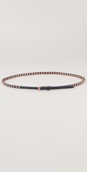 Linea Pelle Ricky Skinny Cone Studded Belt