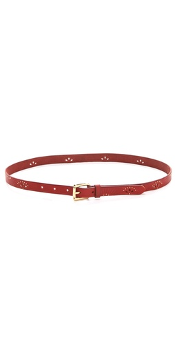 Linea Pelle Ricky Perf Embossed Studded Belt