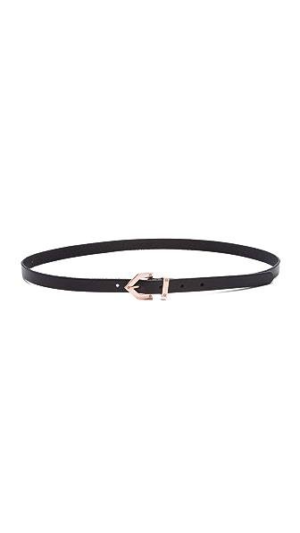 Linea Pelle Avery Skinny Belt with Chevron