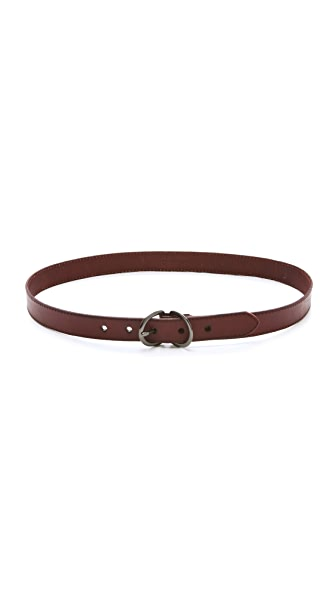 Linea Pelle Paige Skinny Belt with Drings