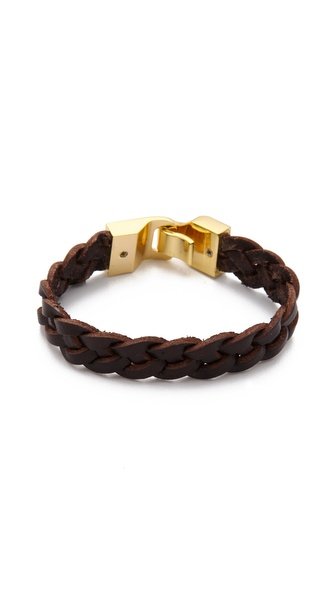 Linea Pelle Braided Leather Bangle
