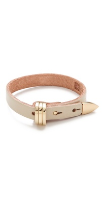 Linea Pelle Avery Buckle Leather Bracelet