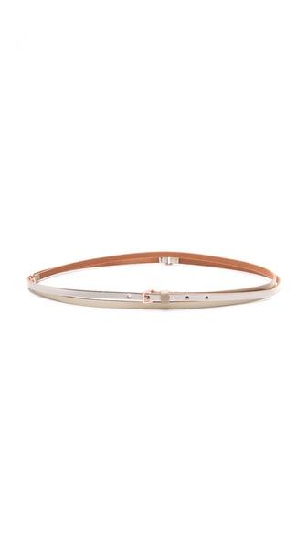 Linea Pelle Allegra Skinny Double Wrap Belt