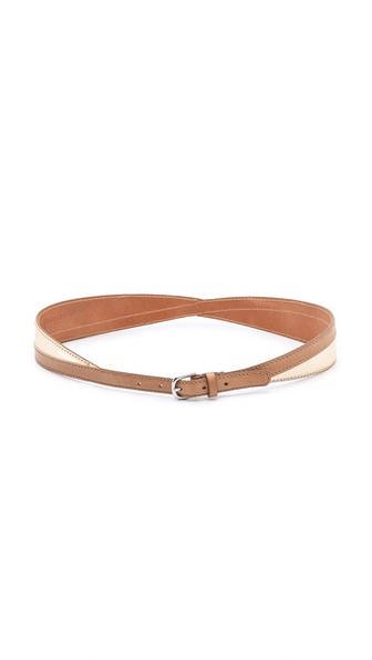 Linea Pelle Allegra Colorblock Swirled Belt