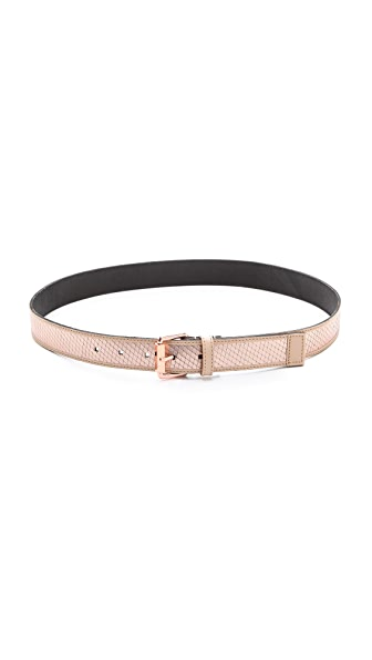 Linea Pelle Avery Metallic Belt