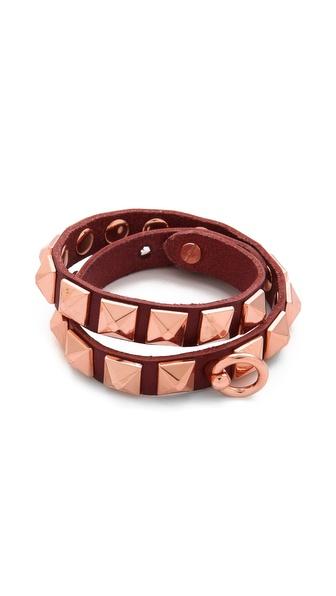 Linea Pelle Grayson Pyramid Wrap Bracelet