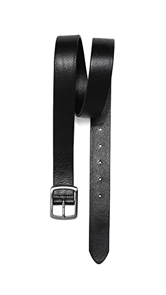Linea Pelle Casual Belt with Brushed Buckle