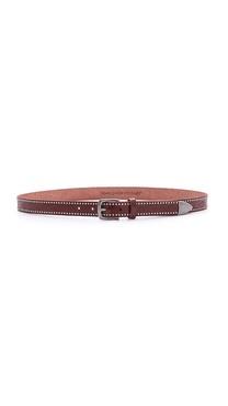 Linea Pelle Embossed Studded Belt