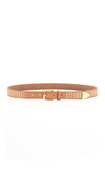 Linea Pelle Studded Metal Tip Belt