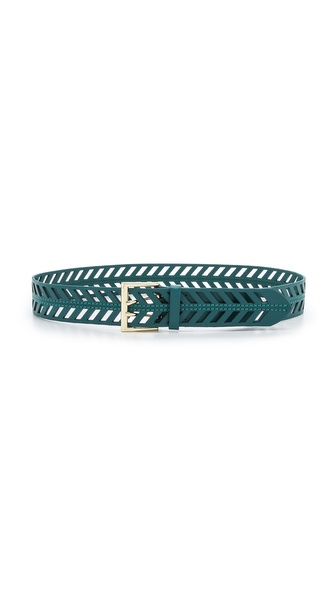 Linea Pelle Chevron Perforated Belt