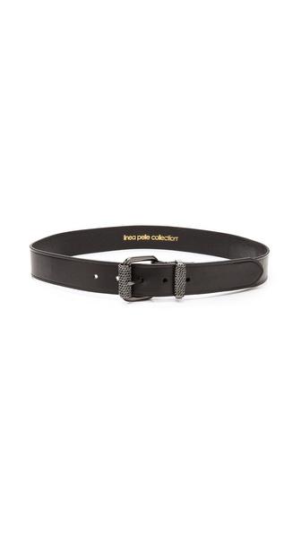Linea Pelle Chain Wrapped Roller & Keeper Belt