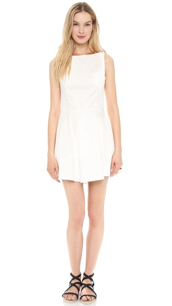 Line & Dot Lace Strap Back Dress