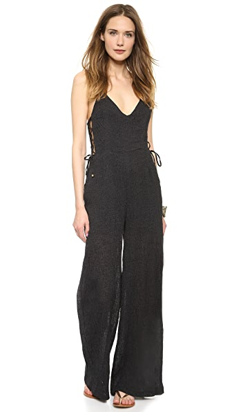 Line & Dot Strappy Jumpsuit