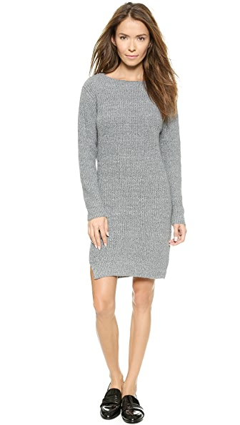 Shop Line & Dot online and buy Line & Dot Christensen Sweater Dress - Heather Grey dresses online