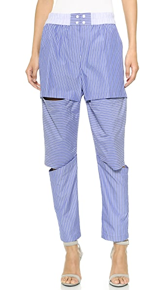 Lee Lee Combo Striped Slash Pants (Multicolor)