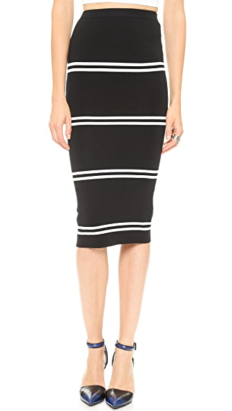 Line II Dion Lee Striped Rib Skirt