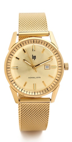 LIP Watches Himalaya 1960 Date Milanese Watch at Shopbop / East Dane