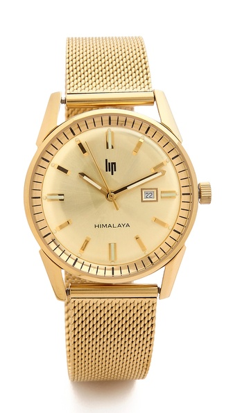 LIP Watches Himalaya 1960 Date Milanese Watch