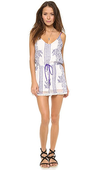 LIV Romper with Lace Trim