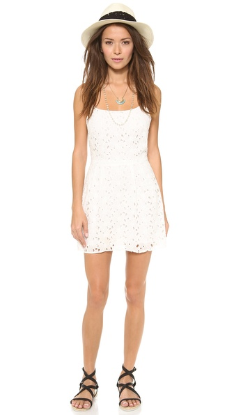 LIV Eyelet Racer Back Dress