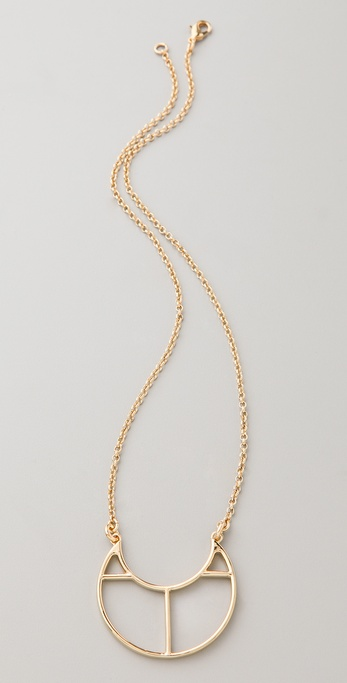 Lizzie Fortunato Mini Crescent Silhouette Necklace
