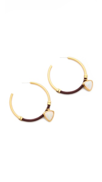 Lizzie Fortunato Noir Hoop Earrings