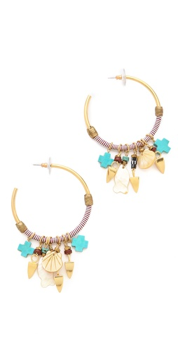 Shop Lizzie Fortunato Soul Town Hoop Earrings and Lizzie Fortunato online - Accessories,Womens,Jewelry,Earring, online Store