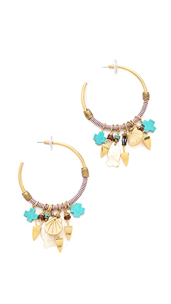 Lizzie Fortunato Soul Town Hoop Earrings