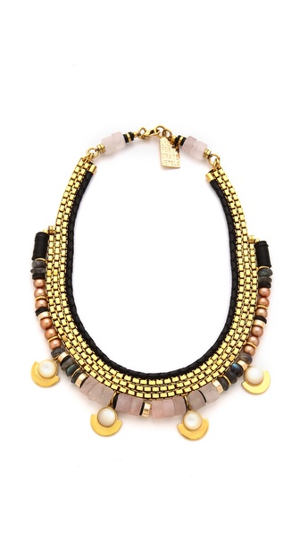 Lizzie Fortunato Navy & Greys Necklace